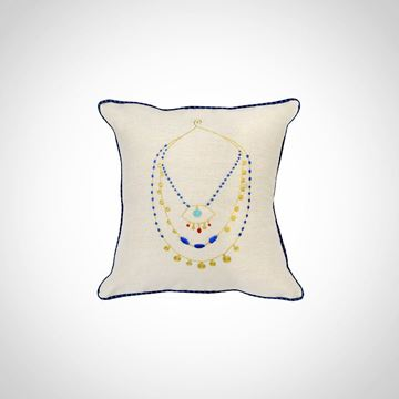 Picture of Necklace design cushion, Size: 42x42cm