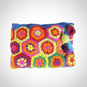 Picture of 'Baboushka' pattern crochet pouch L 16 * w  24