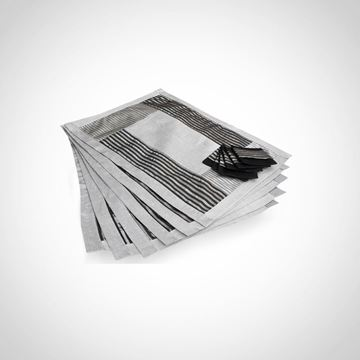 Picture of set of 6 placemats in black & silver