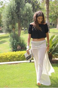 Picture of Airy maxi skirt with crochet details
