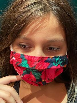 Picture of Masks are composed of 3 layers including a filter and nose support for kids