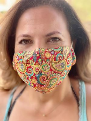Picture of Colorful cashmere pattern mask.our masks are composed of 3 layers in cluding a filter and anose support.